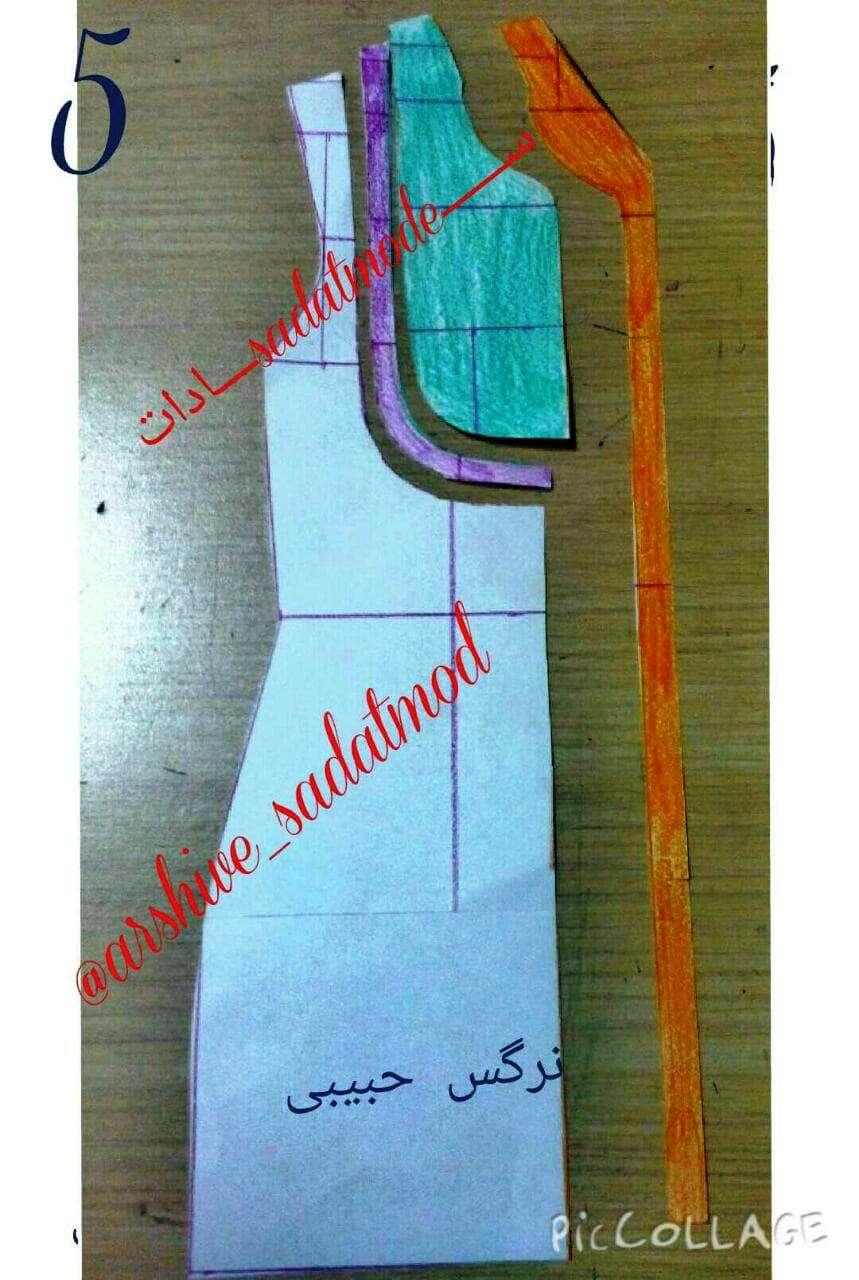 الگوی مانتو کلاه جدا آموزش رسم الگوی مانتو سنتی | الگو