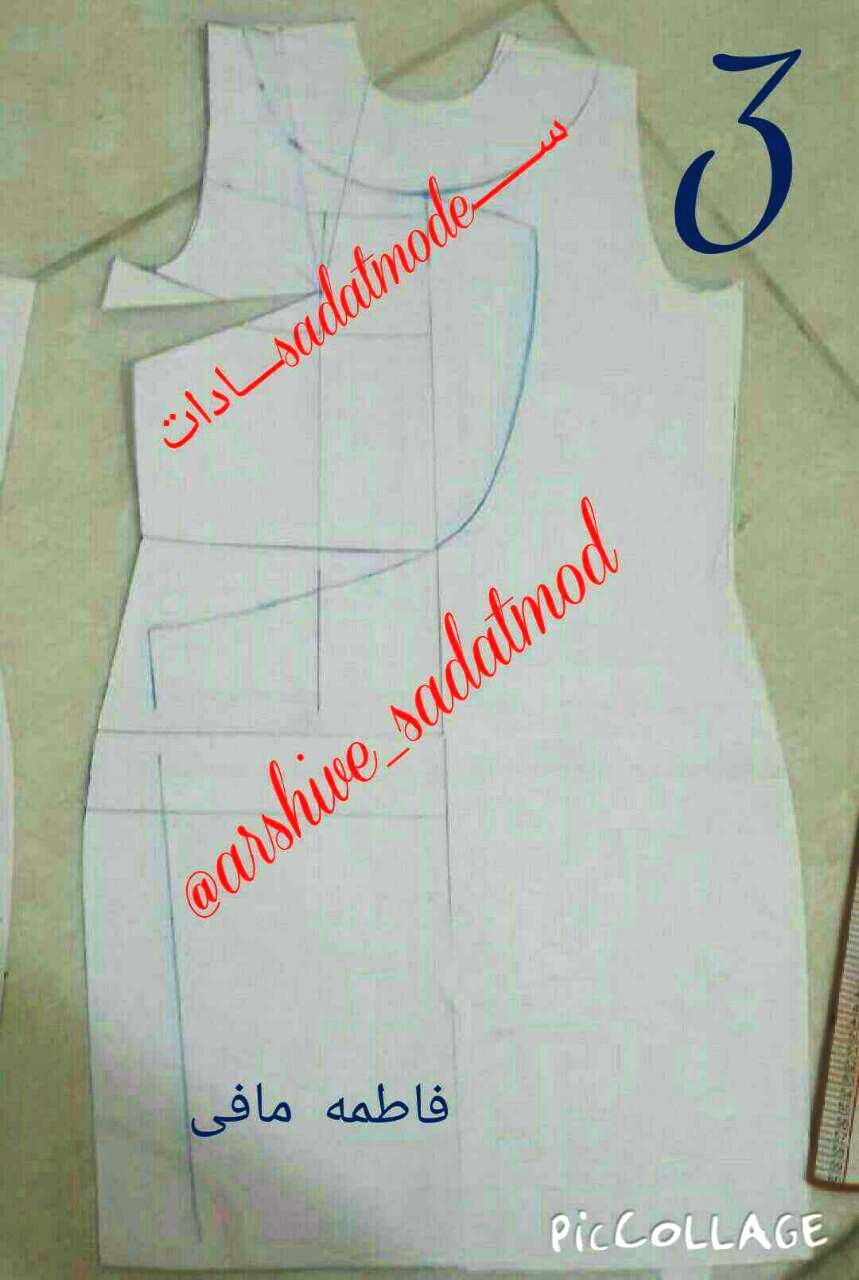 لباس عصر  الگوی لباس عصر در پنج دقیقه  مدل دامن خمره ای  آموزش دوخت لباس مجلسي